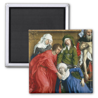 Descent from the Cross, c.1435 2 Inch Square Magnet