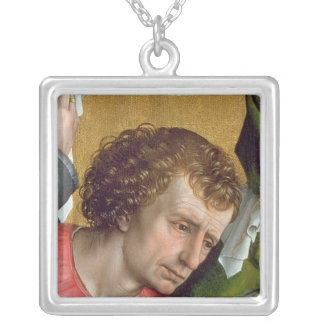 Descent from the Cross, c.1435 Silver Plated Necklace