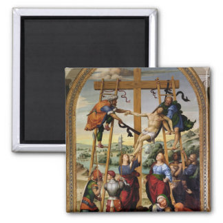 Descent from the Cross, c.1505-10 2 Inch Square Magnet