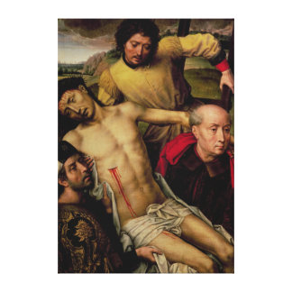 Descent from the Cross, left hand panel Canvas Print