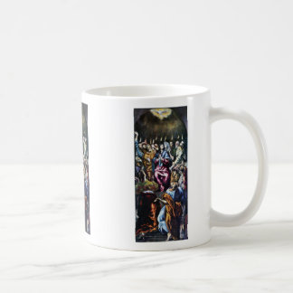 Descent Of The Holy Spirit By Greco El Classic White Coffee Mug