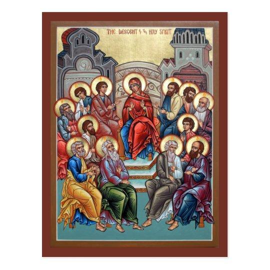 Descent of the Holy Spirit(Pentecost) Prayer Card