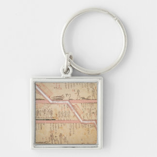 Descent of the sarcophagus into the tomb keychain