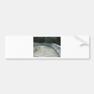Descent stone walkway of medieval bridge bumper sticker
