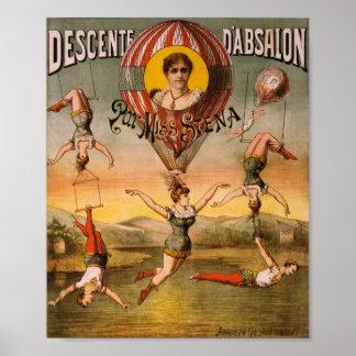 Descente d'Absalon par Miss Stena Posters