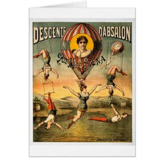 Descente d'Absalon par Miss Stena Vintage Circus Card