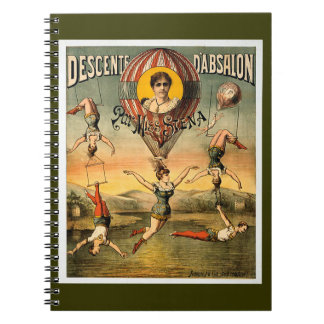 Descente d'Absalon par Miss Stena Vintage Circus Notebook