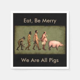 Descentralización de los cerdos de la servilleta servilleta desechable