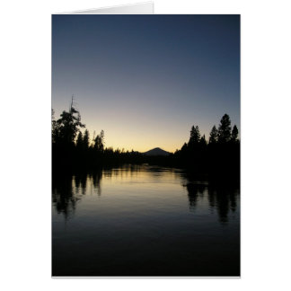 Deschutes at Sunset Card