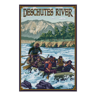 Deschutes River Rafting - Bend, OR Travel Poster