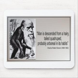 Descienden al hombre del ~ de la cita de Darwin de Tapetes De Ratones