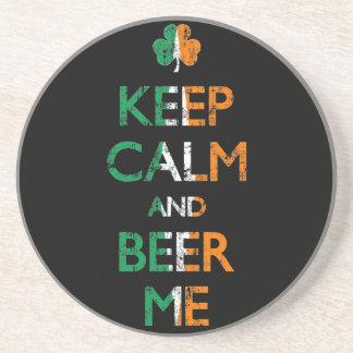 Descolorado guarde la calma y la cerveza yo prácti posavasos para bebidas