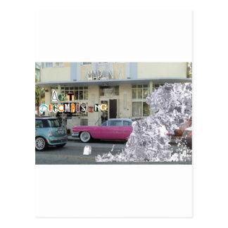 Descomposición del arte tarjetas postales