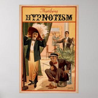 Desconcertar el poster del VODEVIL del hipnotismo