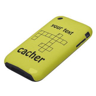 Desconcierte el caso conocido de encargo del iphon tough iPhone 3 carcasa