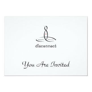 Desconexión - estilo de lujo negro invitación 12,7 x 17,8 cm