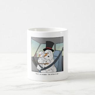Descongele el muñeco de nieve taza de café