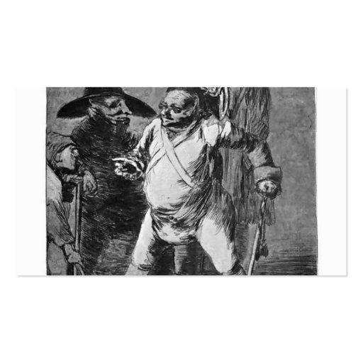 Desconocido de Francisco Goya- Tarjetas De Visita