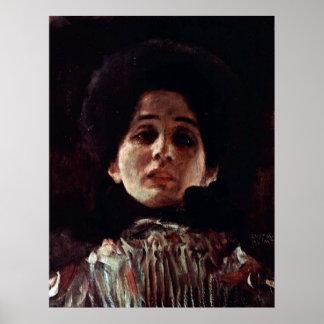 Desconocido de Gustavo Klimt Impresiones