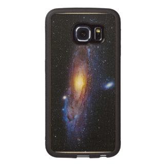Desconocido de la galaxia funda de madera para samsung galaxy s6 edge