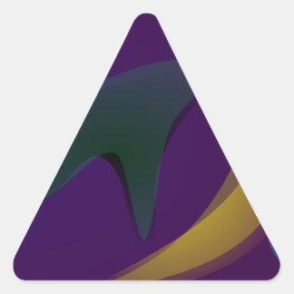Desconocido Pegatina Triangular