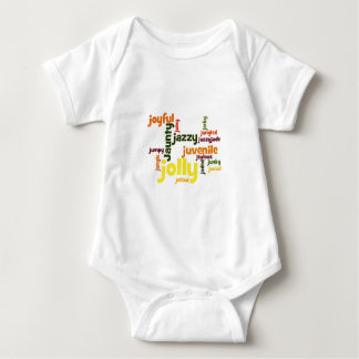 Describe yourself With Adjectives - J Baby Bodysuit