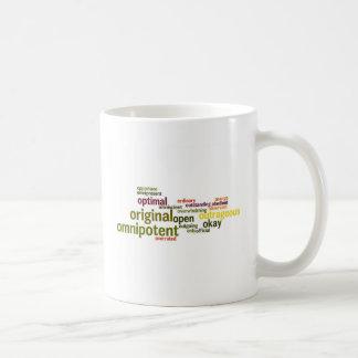 Describe yourself With Adjectives - O Coffee Mug