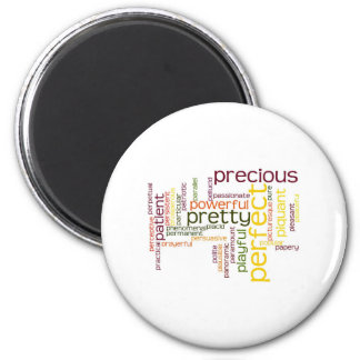Describe yourself With Adjectives - P 2 Inch Round Magnet