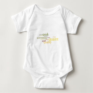 Describe yourself With Adjectives - Q Baby Bodysuit