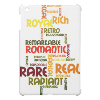 Describe yourself With Adjectives - R iPad Mini Cover