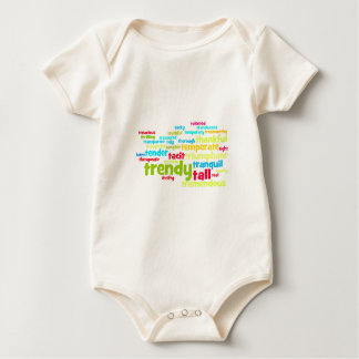 Describe yourself With Adjectives - T Baby Bodysuit