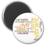 Describe yourself With Adjectives - V 2 Inch Round Magnet