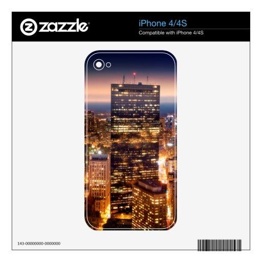 Descripción de Boston en la noche Skin Para El iPhone 4S