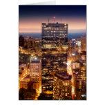 Descripción de Boston en la noche Tarjeta