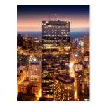 Descripción de Boston en la noche Tarjetas Postales