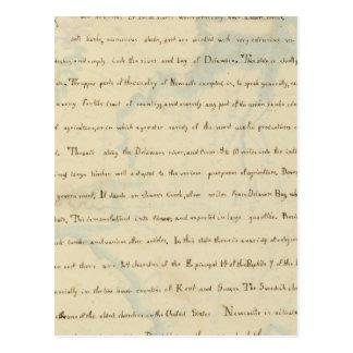 Descripción de Delaware Tarjeta Postal