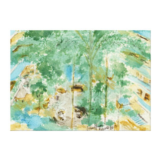 Descripción del jardín de Embassy Suites, San Fran Impresión En Lienzo
