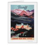 Descripción del poster de Banff Springs Hotel Tarjeta De Felicitación