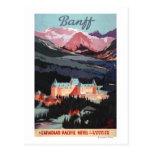 Descripción del poster de Banff Springs Hotel Tarjeta Postal