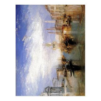 Descripción el Gran Canal - Venecia de J.M.W.T Tarjetas Postales