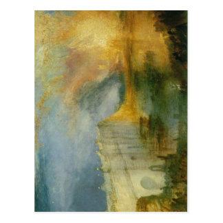 Descripción J.M.W. Turner - el Burning del H Tarjeta Postal
