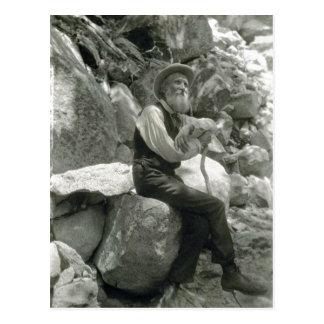 Descripción John Muir, conservacionista americano. Tarjeta Postal