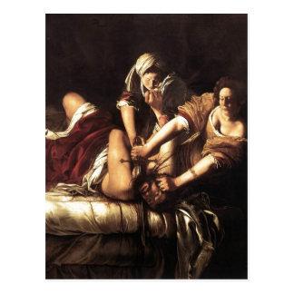 Descripción Judith que decapita Holofernes, aceite Postales
