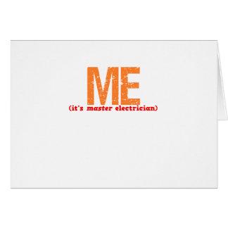 Descripción principal del electricista tarjeta de felicitación