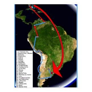 ¿Descripción sumaria Espa? ol: Mapa del primer voy Tarjeta Postal