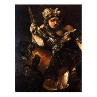 Descripción sumaria Judith y Holofernes. Pintura a Postales