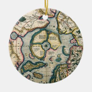 Descriptio del terrarum de Septentrionalium, mapa Ornamente De Reyes