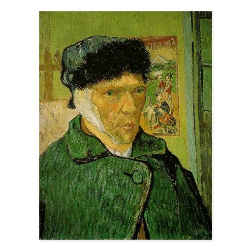 Description: A self-portrait by Vincent van Gogh w Post Card