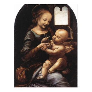 Description Benois Madonna Leonardo da Vinci Oil o Postcard