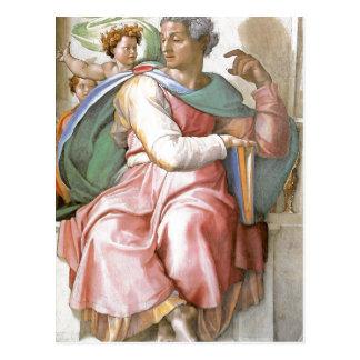 Description fresco painted by Michelangelo and his Postcard